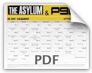 Asylum P90X Workout Calendar