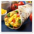 Breakfast Burrito and Ingredients