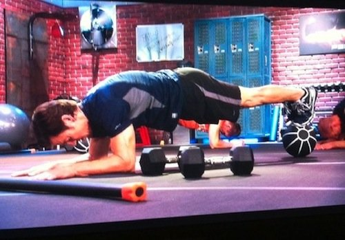 Now that's a plank, P90X-style!