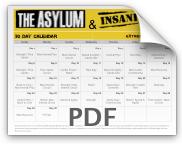 Asylum Insanity Workout Calendar