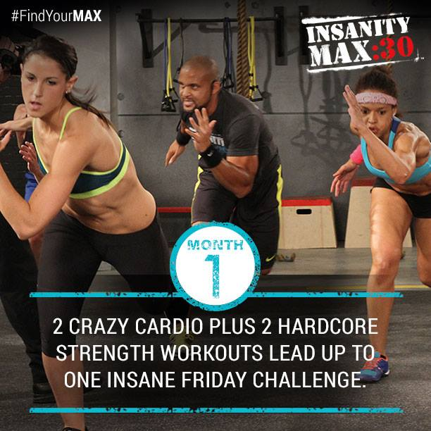 Insanity MAX:30 Month 1 Workouts