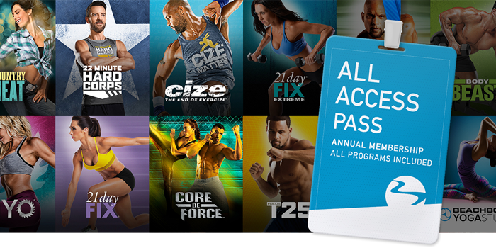 Get ALL of the Beachbody Workouts for the cost of one SINGLE fitness program.