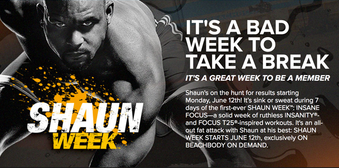 Shaun Week – New Shaun T Workouts!